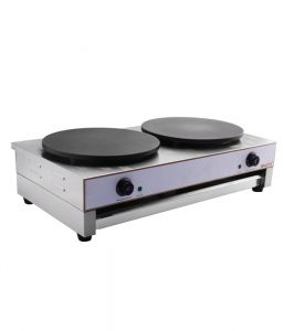 Crepe Maker 400mm x 2 Twin Crepe Tray