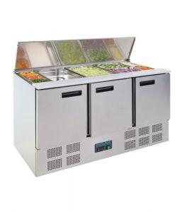 Polar Refrigerated Saladette Counter 368Ltr