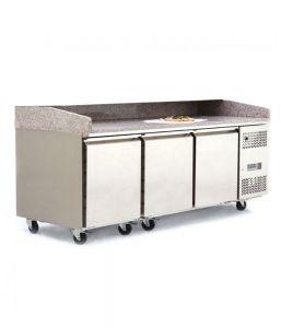 Atosa Pizza Prep Counter Fridge 3 Door 485 Litre