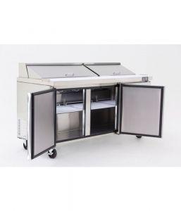 Atosa Refrigerated Prep Table 3 Door 598 Litre Open Top