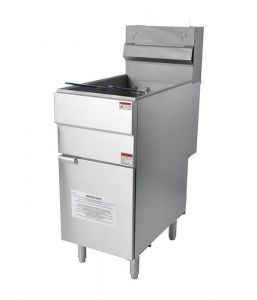 Gas Fryer Free Standing Twin Tank with Twin Baskets 18 Ltr