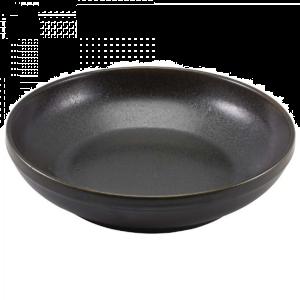 "Cinder Black Terra Coupe Bowls 20 x 5.3cm / 8 x 2"" / 1L / 35.25oz (Pack Of 6)"