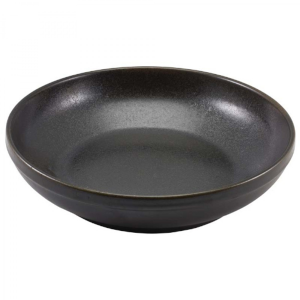 "Cinder Black Terra Coupe Bowls 23 x 6cm / 9 x 2"" / 1.3L / 45.75oz (Pack Of 6)"