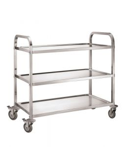 Service Trolley 3 Tier With Square Tube