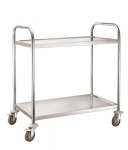 Service Trolley 2 Tier With Round Tube