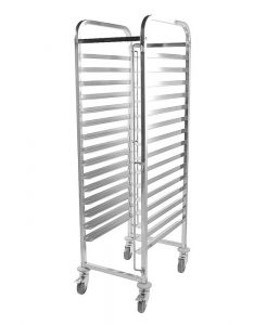 Racking Trolley 15 Shelves for Bakery Trays