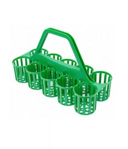 Glass / Bottle Carrier 10 Pockets GREEN