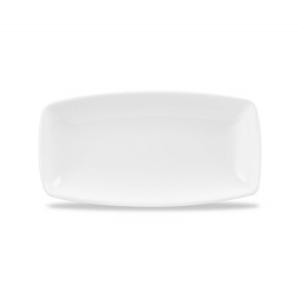 Churchill X Squared White Oblong Plate 14 x 29.5cm (Pack of 12)