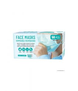 50PK 3 LAYERS-PLY NEW DISPOSABLE FACE MASKS BREATHABLE