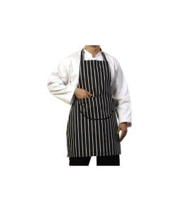 Navy & White Stripe Apron With Pocket