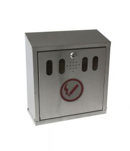 Genware Stainless Steel Wall-Mounted Outdoor Ashtray