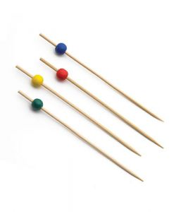 Bamboo Ball Pick Assorted (9cm) x100