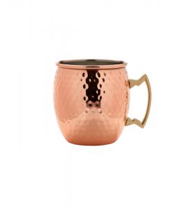 Barrel Copper Mug 55cl/19.25oz Hammered