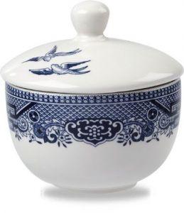Churchill Prints Blue Willow Sandringham Sugar Bowl 9cm