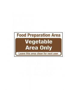 Food Preparation Area. Salad And Fruit Area Only Sign