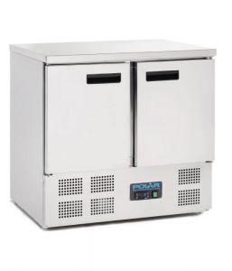 Polar 2 Door Compact Counter Fridge 240Ltr