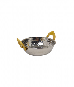 """Stainless Steel Kadai Dish 17cm/6.5"""""""