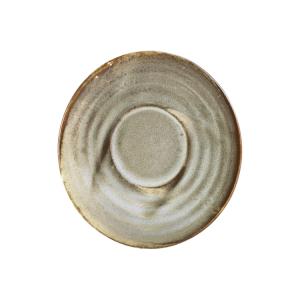 Smoke Grey Terra Porcelain Saucer 11.5cm (Pack Of 6)