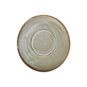 Smoke Grey Terra Porcelain Saucer 14.5cm (Pack Of 6)
