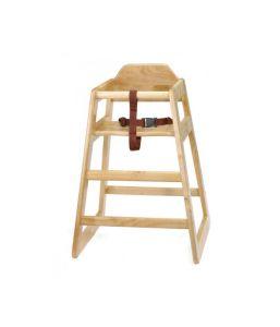 Wooden High Chair Natural
