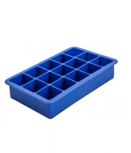 Ice Cube Mould Silicone - 15 Cavity 1.25inch Square (Blue)