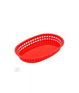 Chicago Platter Baskets-Oval Red 26.5 x 18 x 4cm