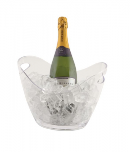 Clear Plastic Champagne/Wine Bucket Small - 3 Litres
