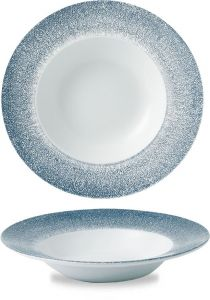 Churchill Studio Prints Topaz Blue Wide Rim Bowl 24cm