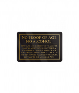 No Proof Of Age No Alcohol Gold/Black