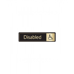 Disabled Sign With Symbol Gold On Black