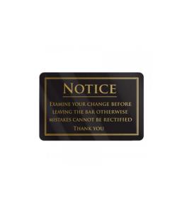 Examine Your Change Notice Gold/Black