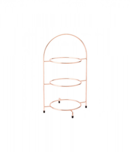 Copper 3 Tier Plate Stand