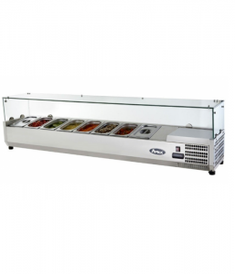 Atosa VRX Refrigerated Topping Unit Counter Top Serve Over Fridge