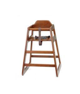 Wooden High Chair Walnut