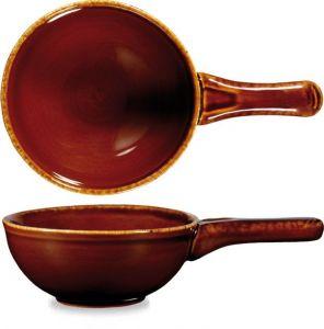 Art de Cuisine Rustic Brown Deep Skillet Pan 24.5cm