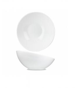 Churchill Alchemy Melamine Buffet Tilt Bowl White 33cm 350cl (Pack of 2)