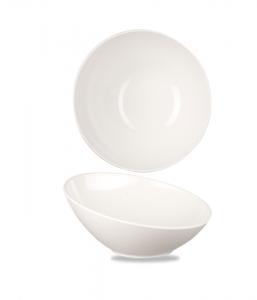 Churchill Alchemy Melamine Buffet Tilt Bowl White 25cm 100cl (Pack of 4)